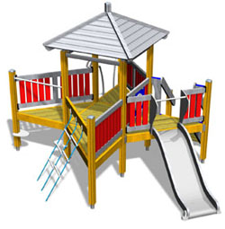 Finno playground equipment - activity tower